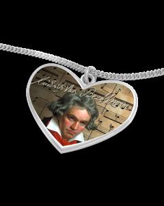 Beethoven Herz mit Kette