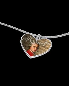 Mozart Herz mit Kette